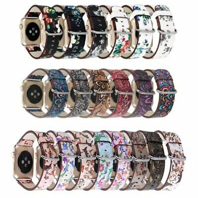 Colorful Leather Apple Watch Strap Band series4 3 2 1 iWatch strap 38 42 40 44mm