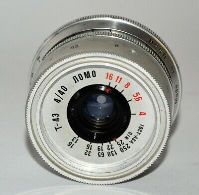 HAND MADE M39 mount USSR SILVER LOMO T-43 f4/40 LENS from SMENA-8m (3)