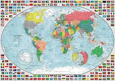NEW! Ravensburger Portrait of the Earth 2 1000 piece world map jigsaw puzzle