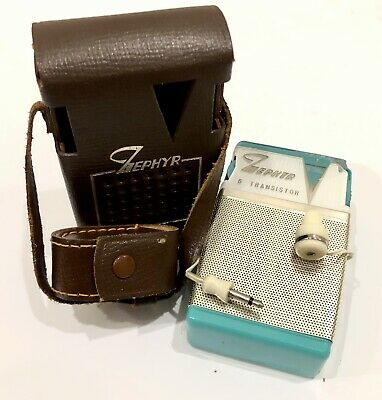 Great Buy!!! Works Well!! Vintage Transistor Radio Zephyr  6 Model Zr-620!!
