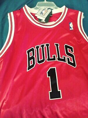 14459716ef7 CHICAGO BULLS DERRICK Rose Jersey Stitched New w/tags Large size ...