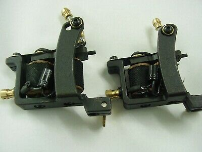 a nice pair of iron shader (or col)  and iron cut back liner pro tattoo machines