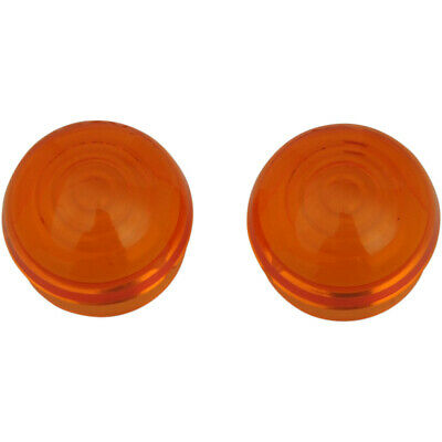 Drag Specialties Chrome Marker Light Replacement Lens Amber (DS-282045)