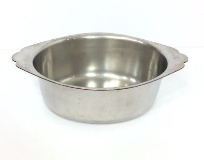 Legion Utensils Sauce Pan Bowl Stainless Steel Oval Heavy Duty Dish Handles