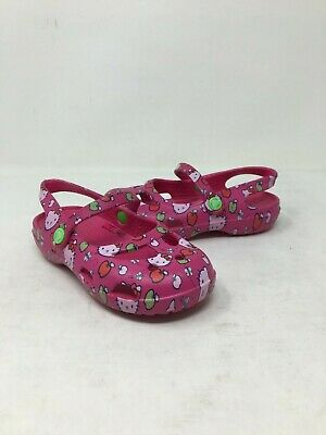 NEW! Crocs Toddler Girls' Shayna Hello Kitty Apples Pink #200120 Sz: 10 H2C m