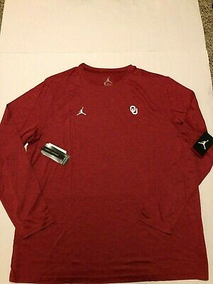 b151f4f4acfdae Nike Oklahoma Sooners Jordan Mens Dri-FIT Coahes Top 2018 Edition Crimson  3XL