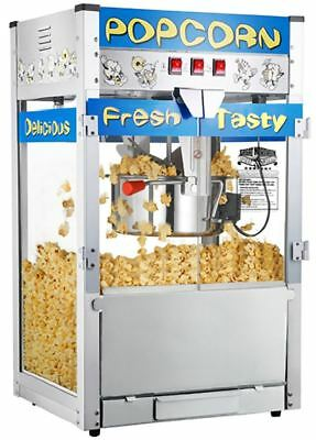 Gourmet Popcorn Machine Movie Theater Bar Kettle Commercial Quality Popper Maker