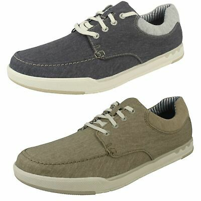 MENS CLARKS CLOUDSTEPPERS Step Isle Lace Canvas Lace Up