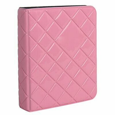 Zink 64-Pocket Photo Album w/Sleek Quilted Cover for 2x3 Photo Paper - Pink