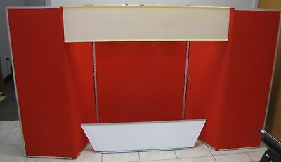 Downing Displays Red/Goldenrod 6 Panel 360 Table Top Display