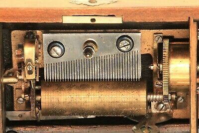 Antique cylinder music box in good condition