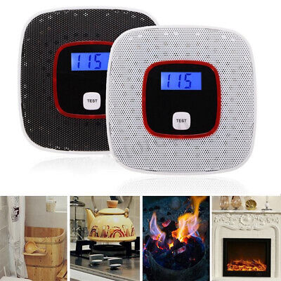 Digital Carbon Monoxide Detector Co2 Voice Light Sensor Alarm Meter Strict UK
