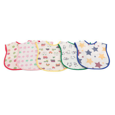 Baby Boy Girl Infants Kids Waterproof Towel Burp Cloth Feeding Bibs Bundle 8C