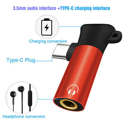 Charger USB C Audio Cable Earphone Adapter Type C to 3.5 mm 2 in 1 Converter