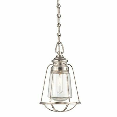Savoy House Vintage Brushed Nickel and Pewter One-Light 8-Inch Wide Mini Pendant