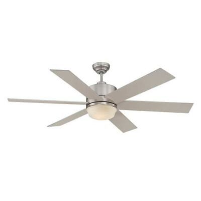 Savoy House Velocity Brushed Nickel and Pewter One Light Ceiling Fan