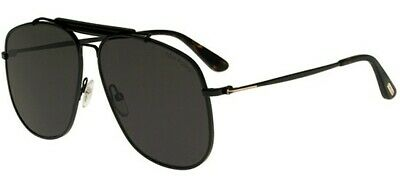 97d5fd33c6 Tom Ford CONNOR-02 FT 0557 SHINY BLACK GREY men AUTHENTIC Sunglasses