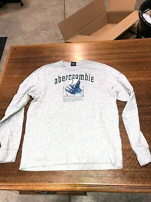 e303d68e1 VINTAGE ABERCROMBIE & Fitch Coral Long Sleeve Shirt_ Size XL_ New ...