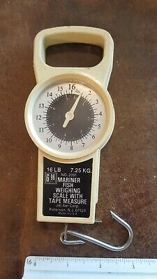 Vintage Mariner Fish Weighing & Measuring Scale 16lb. good used condition