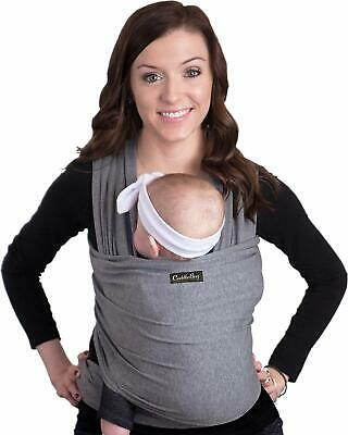 Cuddlebug Baby Wrap Ergo Carrier Sling - Grey