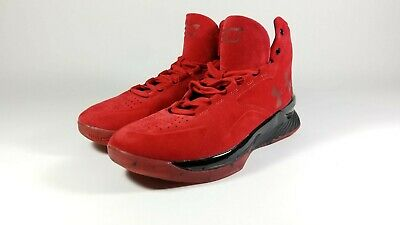 fab97d54b0b0 Under Armour UA Curry 1 Lux Mid Suede Red   Black Men s US Size 9.5 1296617