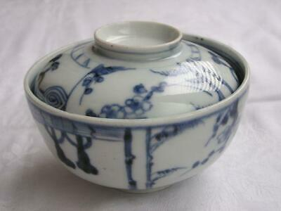 Antique Japanese Imari Arita chawan (lidded bowl) 1790-1830 handpainted #4390