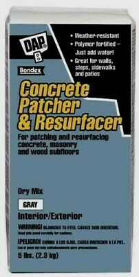 New!! DAP Dry Mix CONCRETE PATCHER & Resurfacer Gray In/Out 30 Min 5 lb. 10466