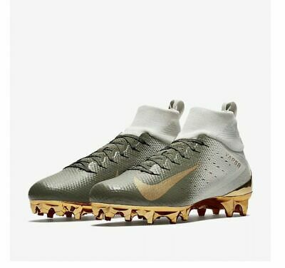 d0ff4382f43 NEW Nike Vapor Untouchable Pro 3 Football Cleats Size 9 White Gold 833385 -090