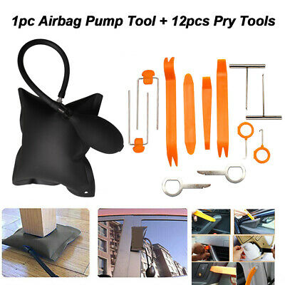 Auto Air Inflatable Pump Wedge Airbag Shim Car Door Window Pry Hand Tool Repair