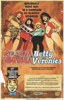 Red Sonja and Vampirella meet Betty and Veronica Dynamite #3D NM Stock Image