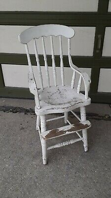 Antique Victorian Wood Child Chair Highchair