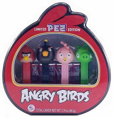Angry Birds Limited Edition Pez Gift Set (4 Dispensers +6 Rolls Candy)