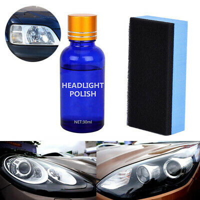 Headlight Restoration Kit - Polish Restorer Cleaner for Car Lens & Headlamp 1Set
