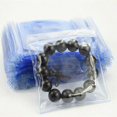 Anti-oxidation PVC Plastic Bags Clear Zip Lock Jewelry Packaging Pouch 100Pcs