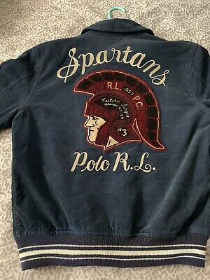 7d761f7ae Polo Ralph Lauren Spartans Embroidered Corduroy Jacket 67 logo Size S MSRP   398