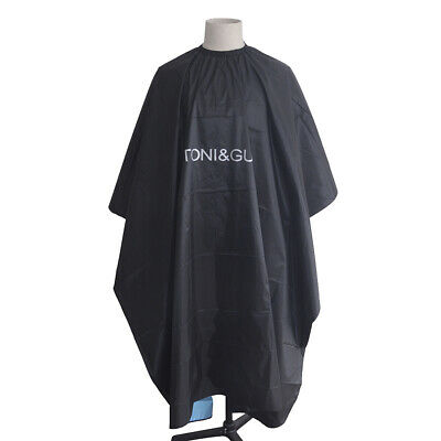 Waterproof Hair-cutting Hairdressing Cloth BarberCape Gown Wrap Black GownCloth'