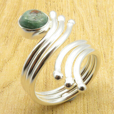 9 Size, Adjustable Ring ! ECONOMIC Beautiful Ruby Zoisite Silver Plated Jewelry