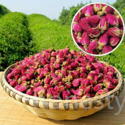 100g Organic Red Rosebud Rose Buds Flower Floral Herbal Dried Health Tea