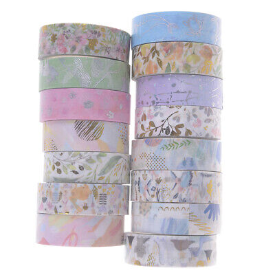 Laser foil flowers tape decorative adhesive tape scrapbooking sticker '