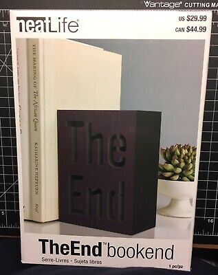 "NEW Bookend by NEATLIFE, NIB, ""The End"", Black, FREE SHIPPING!"