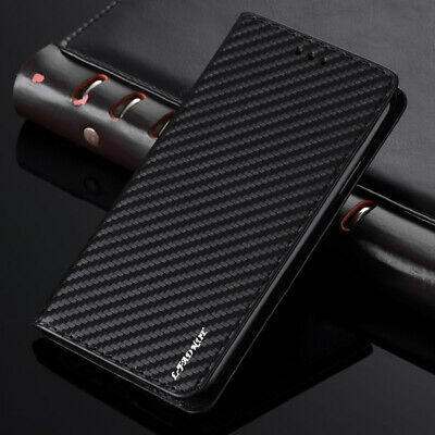 Carbon Leather Case For Sony Xperia XZ Premium XA1 X Magnetic Flip Wallet Cover