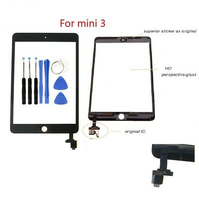 OEM Screen Digitizer Replacement Glass Touch For iPad Mini 3 A1599  A1600 Black