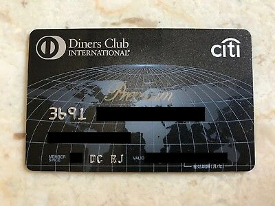 Diners Premium Black Japanese Diners Club Card