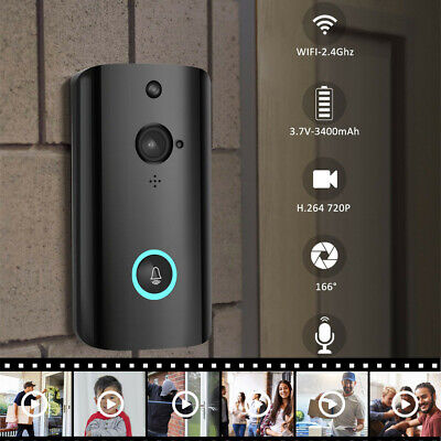 M9 1080P Wireless Smart WIFI Security Doorbell Video Phone Camera Night Vision.