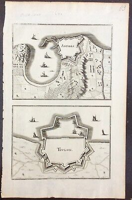 c.1640 views of Antibes and Toulon by Gaspard Merian