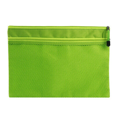 Clear Mesh Zip Document Wallet Folder Pencil Case File Secury Storage Bag 8C