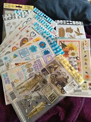 JOBLOT 20 NEW PACKS MIXED THEMED RUB-ON TRANSFERS see Pics - bargain!!