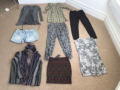 8 x girls/ladies top/skirt/trouser bundle. New Look, H&M, Fatface...Size 10
