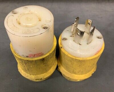 HUBBELL 60 AMP 250 Volt 3 Phase 4 Wire Male Plug Without Cover
