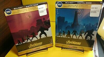 Marvel Avengers Assemble/Age of Ultron (Blu-ray+Digital, Steelbook) NEW-Free S&H